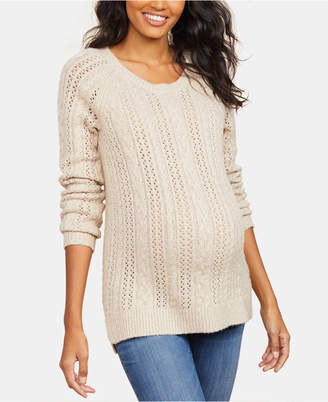 Motherhood Maternity Pointelle Sweater