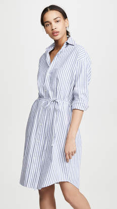 Vince Oversized Space Dye Stripe Shirt Dress