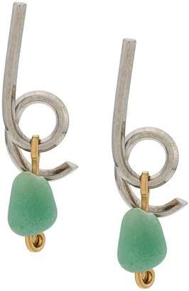 Marni stone drop earrings