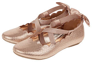 Monsoon Annabel Scalloped Ballerina Shoes
