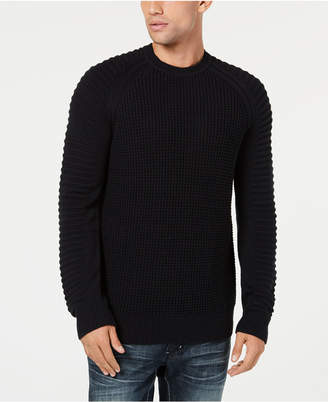 INC International Concepts I.N.C. Men's Regular-Fit Ottoman-Sleeve Sweater, Created for Macy's