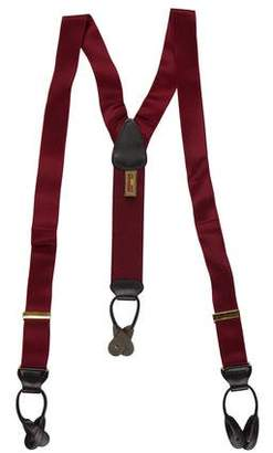 Trafalgar Leather-Trimmed Suspenders