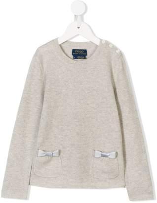 Ralph Lauren bow-embellished jumper