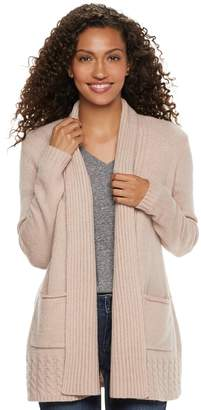 Sonoma Goods For Life Women's SONOMA Goods for Life Supersoft Airy Shawl Collar Cardigan