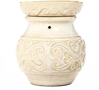 "Hosley 6"" High Cream Ceramic Electric Candle Warmer. Ideal Gift for Wedding"