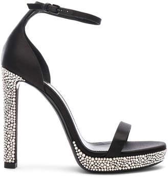 8547b071cf7 Saint Laurent Hall Embellished Ankle High Heels in Black | FWRD