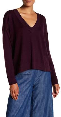 Eileen Fisher V-Neck Boxy Pullover $228 thestylecure.com