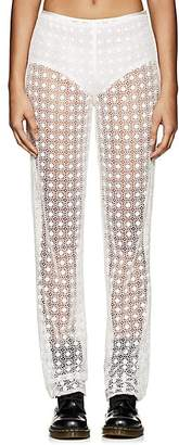 Marc Jacobs Women's Floral Cotton-Blend Crochet Pants - Ivory
