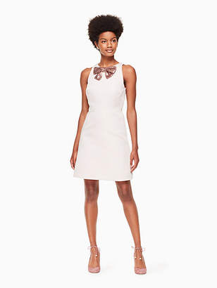 Kate Spade Sequin bow a-line dress