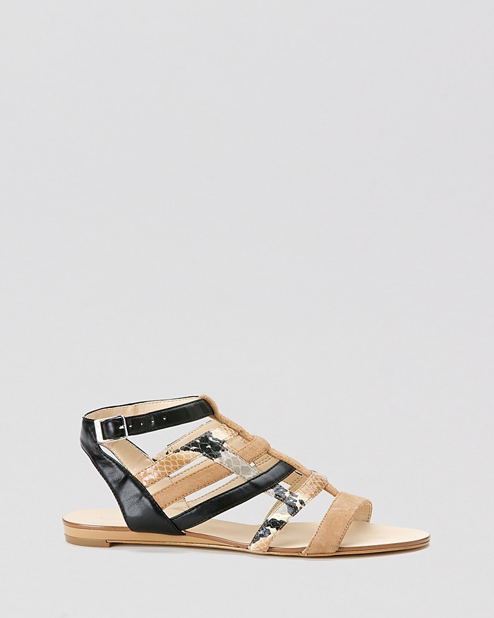 Calvin Klein Flat Sandals - Selina Strappy Exotic
