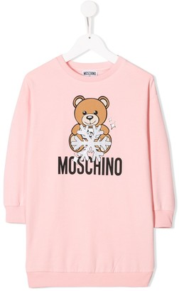 Moschino Kids TEEN teddy logo dress