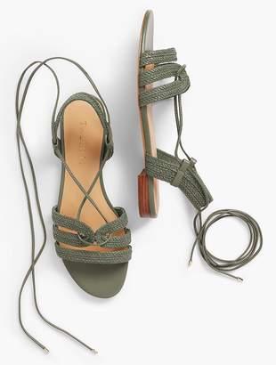 Talbots Keri Braided Lace-Up Sandals