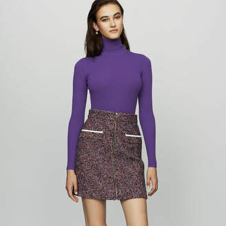 Maje Short tweed skirt