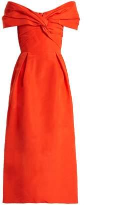 Carolina Herrera Off-the-shoulder silk-faille dress