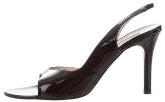 Michael Kors Patent Leather Slingback Sandals