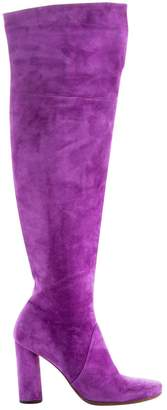 Michel Perry Purple Suede Boots
