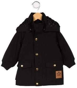 Mini Rodini Boys' Hooded Zip-Up Coat