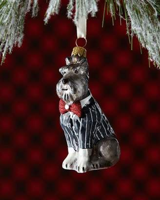 Joy To The World Collectibles Schnauzer Dog in Tuxedo Christmas Ornament