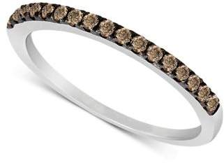 LeVian Le Vian Chocolate Diamond Pave Band (1/4 ct. t.w.) in 14k White or Rose Gold