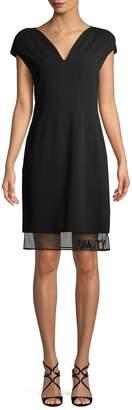 Versace Women's Sheer Hem Sheath Dress