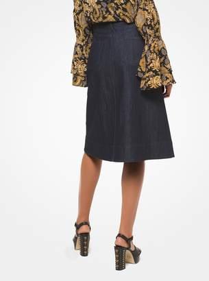 MICHAEL Michael Kors Denim Button-Front Skirt