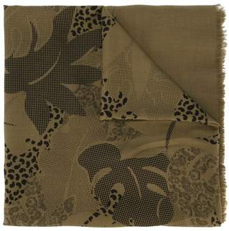 Jean Louis Scherrer Pre-Owned cheese plant print scarf