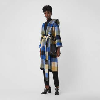 Burberry Check Oversized Dressing Gown Coat , Size: 12, Yellow