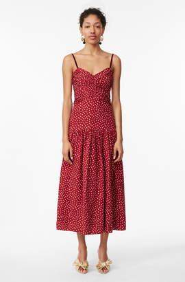 Rebecca Taylor Blurry Heart Silk Tank Dress