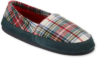 L.L. Bean L.L.Bean Women's Mountain Lodge Slippers, Fleece-Lined Flannel Plaid