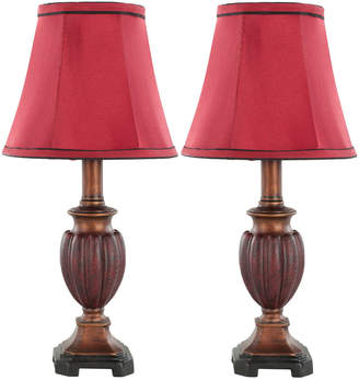 Safavieh Set Of 2 16In Hermione Urn Table Lamps
