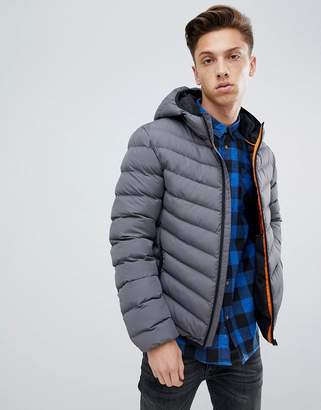 Brave Soul Hooded Quilted Padded Jacket