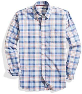 Goodthreads Men's Standard-Fit Long-Sleeve Lightweight Madras Plaid Shirt