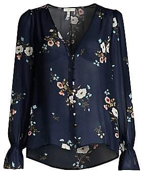 Joie Women's Bolona Silk Sheer Blouse