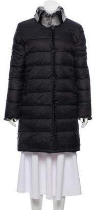 Linda Richards Reversible Fur-Trimmed Coat