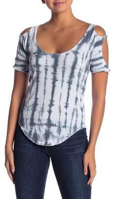 Chaser Tie Dye Cold Shoulder Top