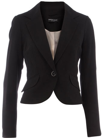Dorothy Perkins Black crepe dip back jacket