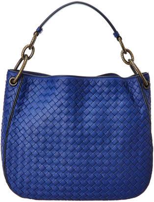 Bottega Veneta Loop Small Leather Intrecciato Hobo Bag
