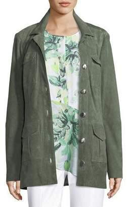 St. John Suede Safari Grommet Jacket