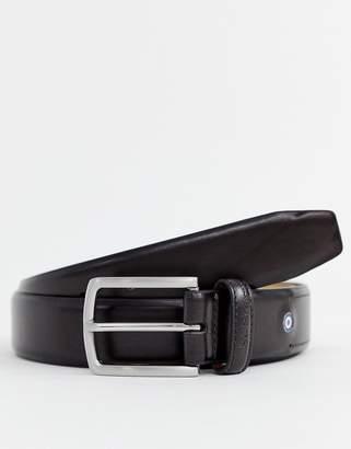 Ben Sherman target logo belt in brown