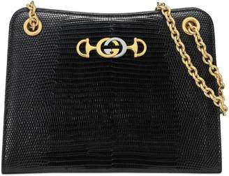 Gucci Small Zumi Genuine Lizardskin Shoulder Bag