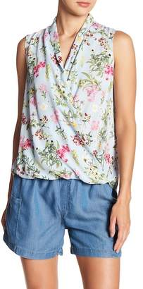 Everleigh Sleeveless Surplice Blouse