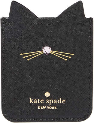 Kate Spade Embellished Cat Adhesive Phone Pocket