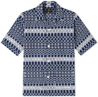 Needles Short Sleeve Cabana Embroidered Vacation Cutaway Shirt