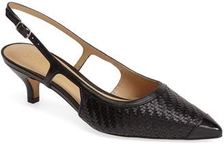 Trotters 'Kimberly' Woven Leather Slingback Pump