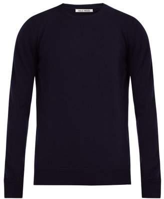 Privee Salle Salle Cesaire Cashmere Crew Neck Sweater - Mens - Dark Blue