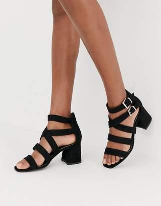 New Look multi strap sandal in black
