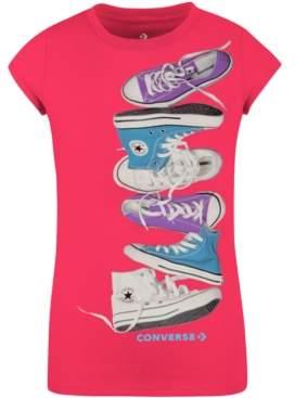 Converse Big Girls Cotton Falling Chucks T-Shirt