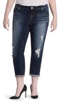 Hunter Slink Jeans, Plus Size Plus Boyfriend Cropped Jeans