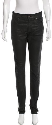 Saint LaurentSaint Laurent Coated Straight-Leg Jeans