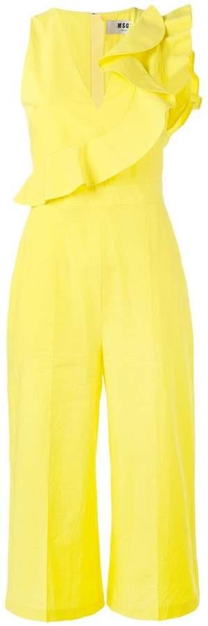 MSGM ruffled wide leg jumpsuit